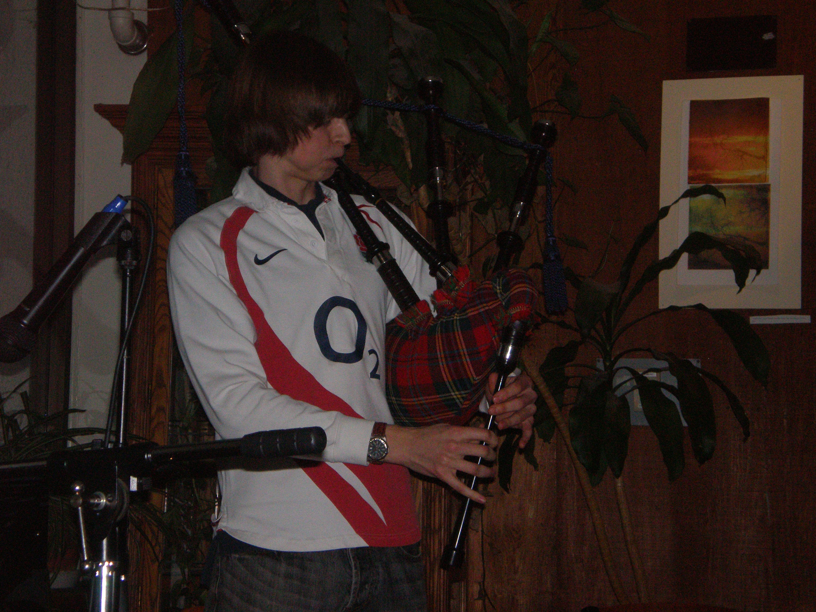 Tristan Begg brought diversity to the show with his bagpipe performance.
