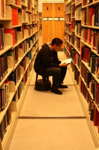 despite a 33.5 percent reduction of the library's open hours, further budget shortcomings mean more cutbacks are necessary — this time from the collections department. Photo by Nita-Rose Evans.