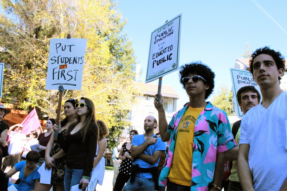 Students Rally Against Fee Increase