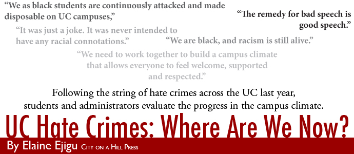 UC Hate Crimes: Where Are We Now? | By Elaine Ejigu, City on a Hill Press