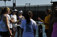 While the Women's tennis team has shrunk in size in recent years, they maintain a regimented schedule of conditioning to prepare for their upcoming season. Photos by Kyan Mahzouf.