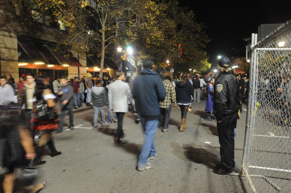 Fifty Arrested Downtown on Halloween