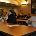 Students attend presentations by UCSC Police Departement Corporal Tony Contreras