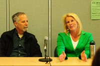 Santa Cruz Mayor Don Lane and Vice Mayor Hilary Bryant spoke to UCSC student media organizations Feb. 27th. They discussed issues like the state of public schools in Santa Cruz and the local economy.