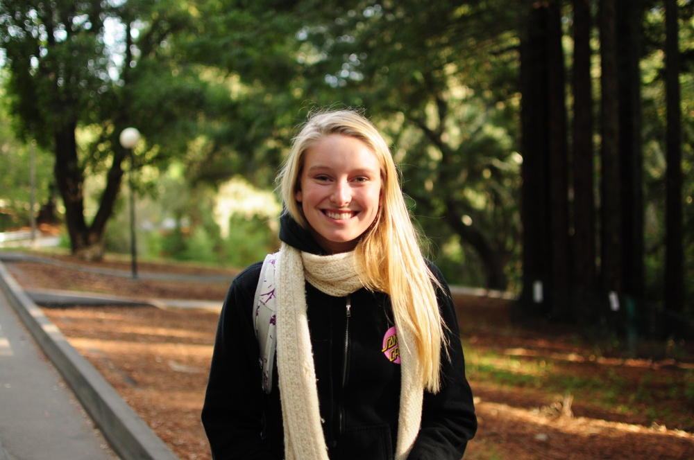 """Kailey Diebold, Second-year, College Eight, Environmental Studies: """"I think that people are here for school and classes, so probably getting the classes up to par, enough room for everyone, and enough teachers and staff … [for] a one on one relationship ... I think it's all about the education."""""""