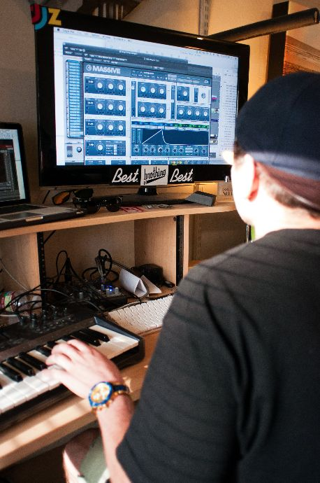 Sam works with Massive to craft his synths.