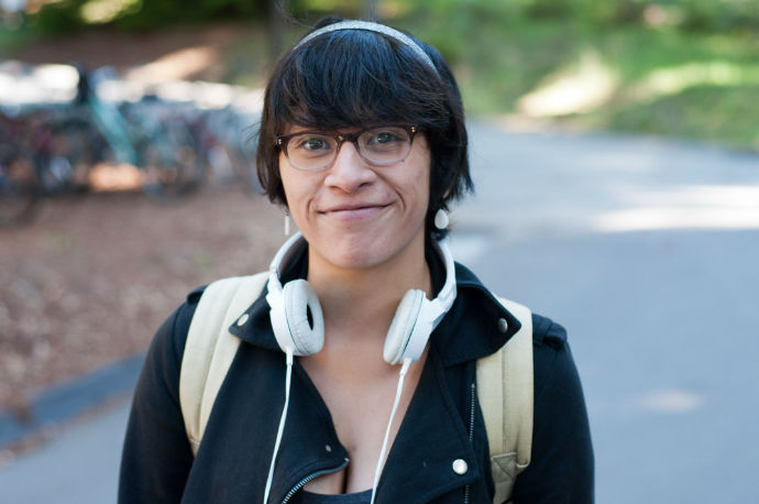 """""""I didn't really have a sexual education class. I don't know if [it] would have prepared me. Pretty much when I was prepared to have sex I had to look up all the [stuff] because I didn't know anything."""" Theresa Pineda Fourth-year, College Eight Language studies"""