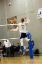 Harley Frost sets himself up for a jump serve at UCSC men's volleyball Senior Night. Photo Courtesy of Austin Einhorn.