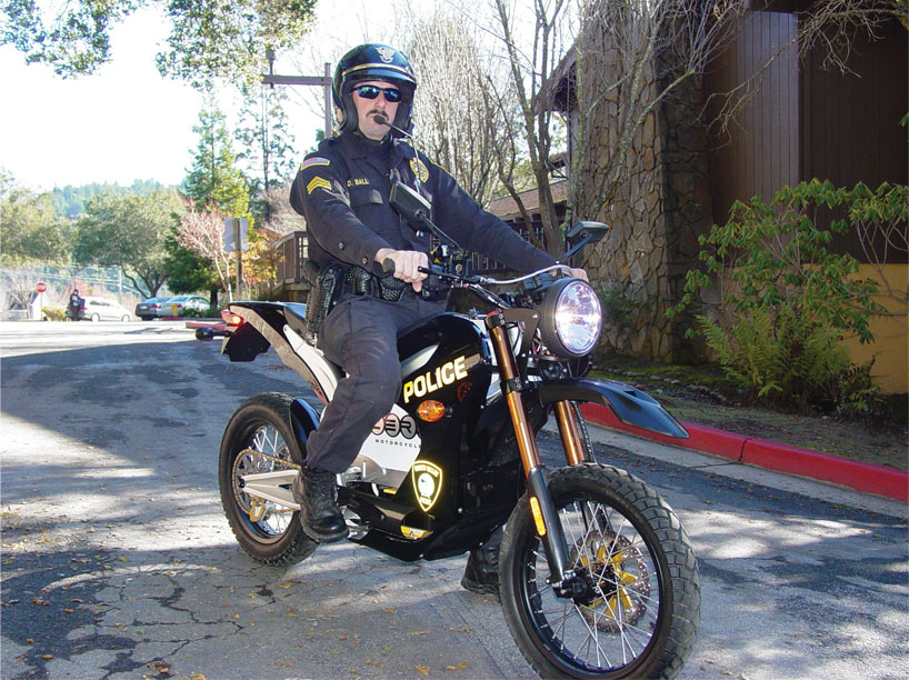 Scotts Valley Police Ride 'Green' Machines