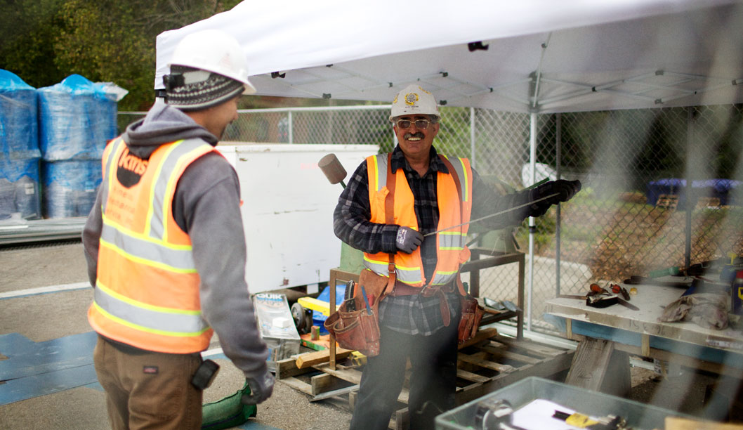 Bogard Construction project manager Dave Tanza manages the subcontractors hired by Blach Construction. As the owner's representative, Bogard acts as the liaison between Blach and UCSC in order to stay within the budget and schedule. Photo by Alex Posis.