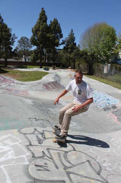 "Zach Hill carves toward the ""rocket pocket"" — one of the additions to the park added in 2012. Photo by Katie Small."