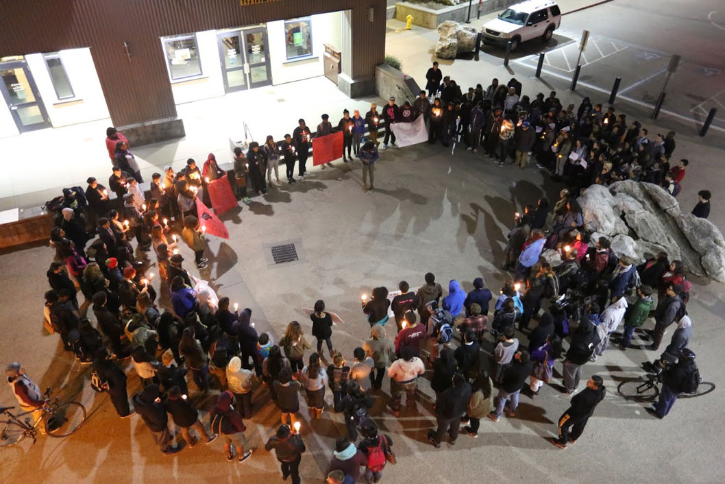Students Hold Vigil in Solidarity with Ferguson