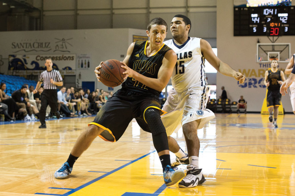 The Men and Women's NCAA Basketball teams held their opening tournament November 15-17. The Men's team lost their first game against the University of Dallas 64-57, but won their game against Redlands only by three points, the score being 57-55. Photo by Stephen De Ropp