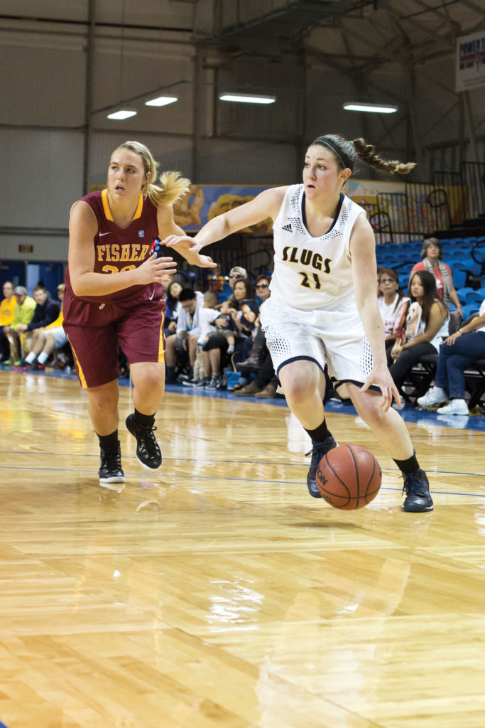 The Women's team came out strong winning both their games by a wide margin their first game against St. John Fisher they won 73-41 and against Cal Lutheran 73-48. Photo by Stephen De Ropp