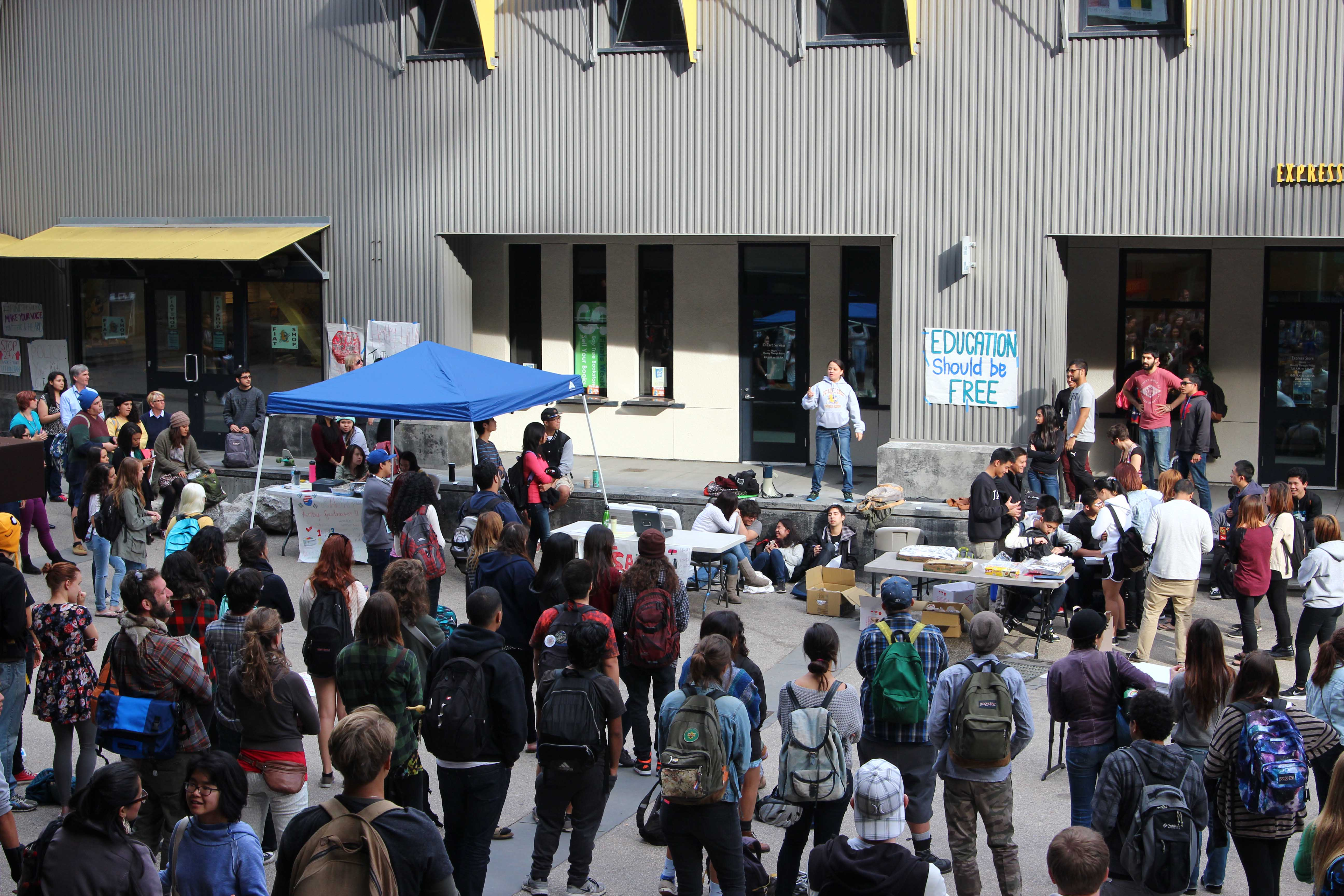 Students Rally Against Proposed Tuition Hike