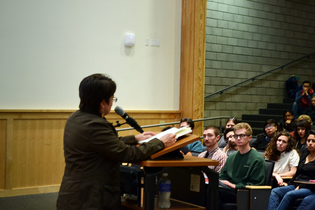 Cherrié Moraga visited UCSC last Thursday evening to reflect on the influence writer and UCSC alum Gloria Anzaldua had on Moraga's writing. This was the first talk of the Winter Living Writers Series .