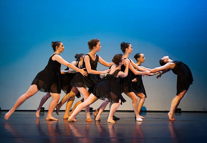"Random with a Purpose XXIII dancers perform Masha Bluestein's piece ""A Negotiation with Disaster."" Courtesy of Steve DiBartolomeo."