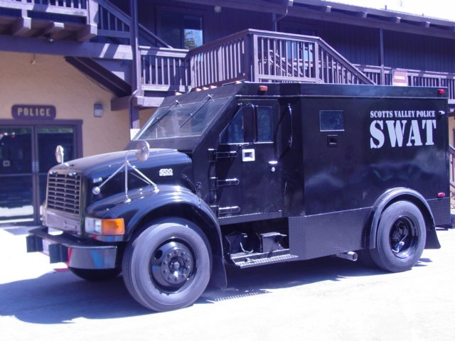 The Santa Cruz Police Department applied for a grant for a Lenco BearCat without informing the Santa Cruz City Council and community about the Scotts Valley Police Department's armored vehicle (above). source: Scotts Valley Police Department