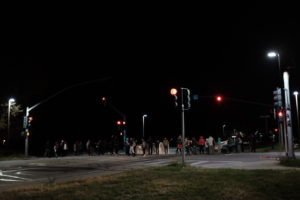 Hagar and Coolidge intersection blocked at 5 a.m. Photo by Alex Posis.