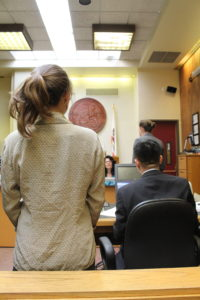 Judge Guy schedules the next hearing for April 30. Photo by Dylan Foster.