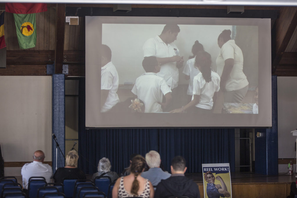 The UC Santa Cruz chapter of Unión Salvadoreña de Estudiantes Universitarios (USEU) hosted the organization's conference this year, which included speakers, workshops and films. Photo by Stephen De Ropp