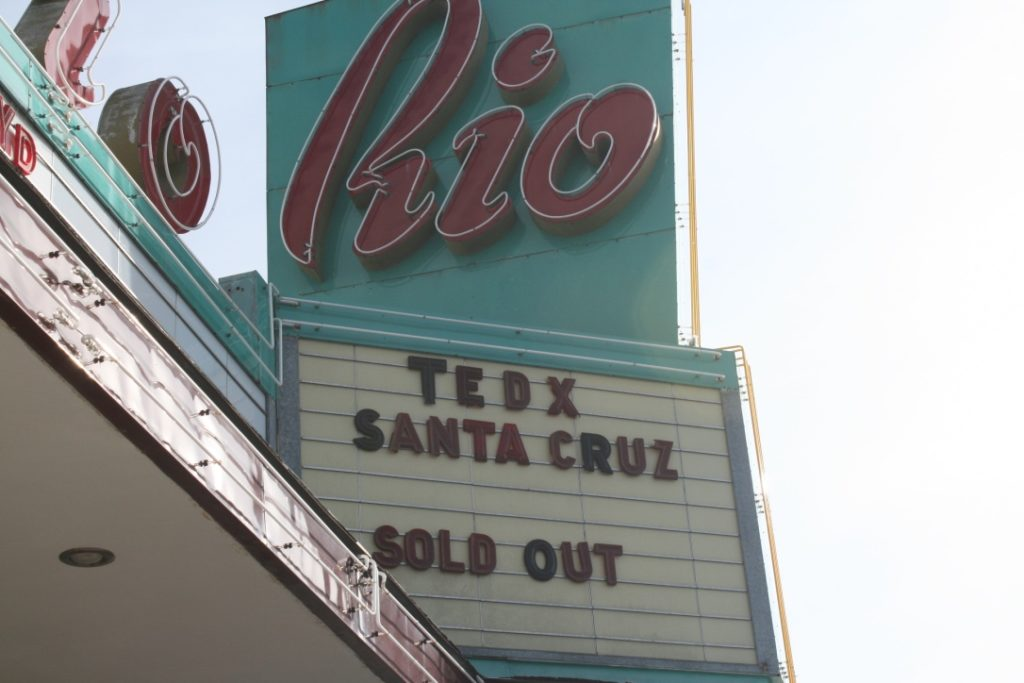 The Rio Theatre hosted the largest TEDxSantaCruz event yet, with 650 audience members. Starting in 2011, TEDxSantaCruz has also been held at Cabrillo College, Cruzio Internet and Hotel Paradox. Photo by Dan Becker.
