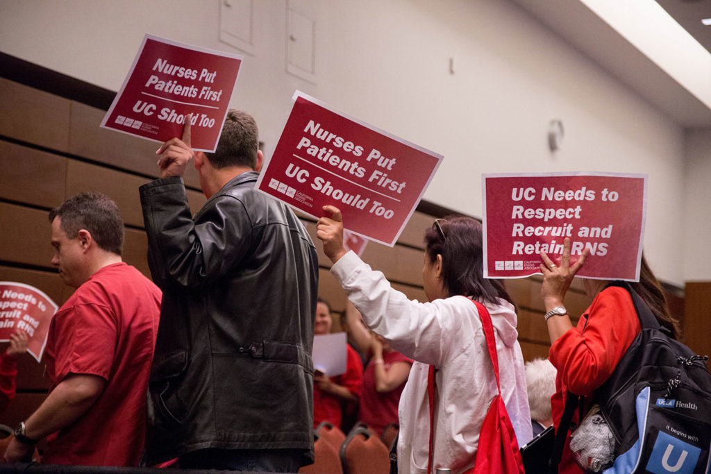 The public seating area was primarily nurses and other employees from UC's medical centers on Wednesday. Photo by Calyse Tobias.