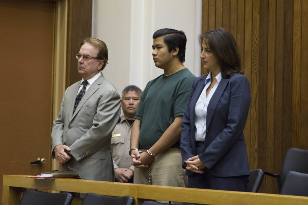 A.J. Gonzalez pleads not guilty to all six charges in court on Sept. 21. Photo by Jasper Lyons.