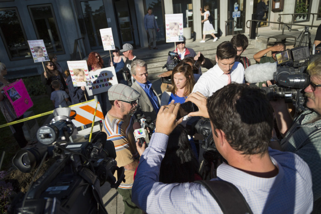 Various news outlets covered Gonzalez's arraignment on Sept. 21. Photo by Jasper Lyons.