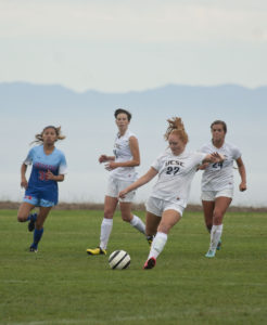 Freshman Cayce Shaw was one of eight freshmen rostered on this year's women's soccer team. Photo by Ali Enright.