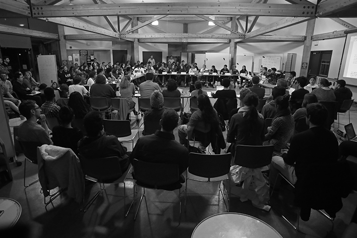 About 70 people attended the SUA meeting on Nov. 18, when the divestment appeal was discussed. Photo by Calyse Tobias.