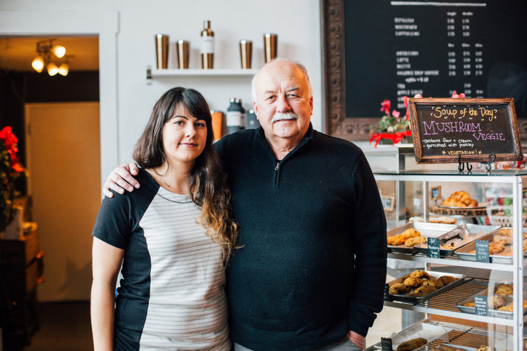 John Bilanko (right) and his daughter Danielle (left) own Cafe Ivéta on Delaware Street. Cafe Ivéta's second location will open this quarter in the Quarry restaurant space. Photo by Stephen de Ropp