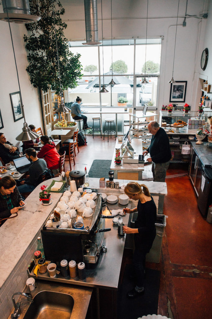 Cafe Ivéta's current location is hidden among industrial buildings near Natural Bridges. The cafe is also a warehouse where the company creates its famous pastry mixes for customers to purchase. Photo by Stephen de Ropp