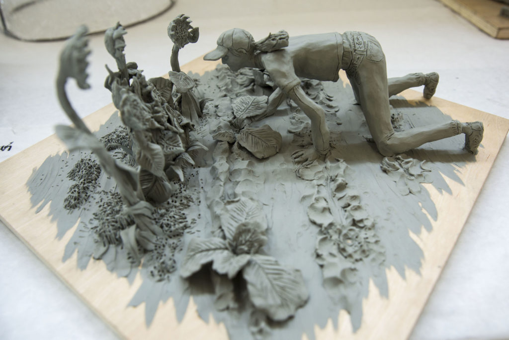 Clay sculpture by Sarah Do. Photo by Casey Amaral