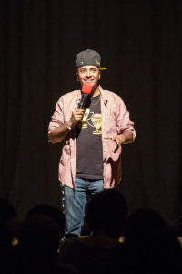 Co-producer and stand-up comedian D'Lo's set included his experiences as a transgender man, actor, writer and performer. Photo by Casey Amaral.