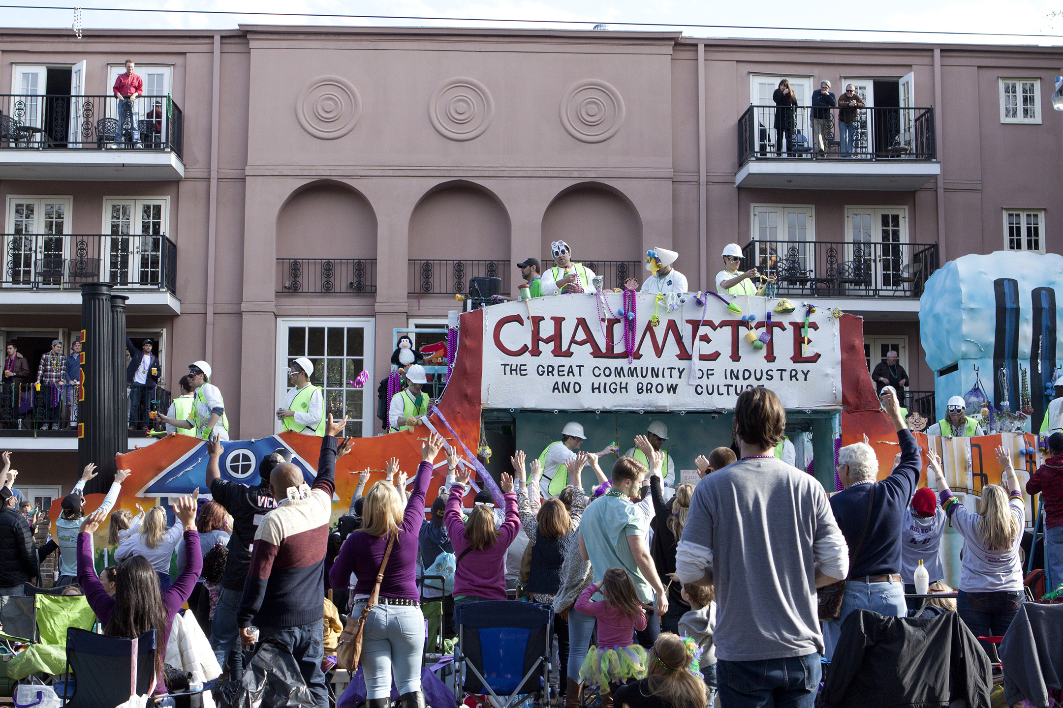 The Tucks Parade, led by its signature giant toilet float, is a day parade known for its use of playful commentary and satire.