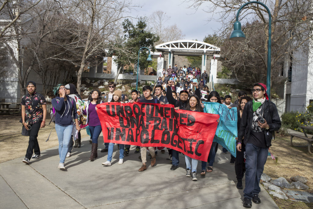 """UC Santa Cruz's Undocumented Alliance said the DREAM loan program """"completely ignores students' demands to continue funding services and programs encouraging retention for undocumented students."""" Photo by Calyse Tobias."""