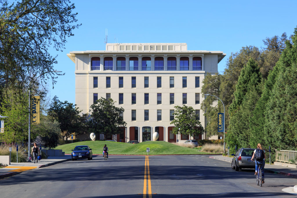 Mrak Hall is the administrative hub of UCD's campus and houses the Chancellor's Office. Photo by Stephen de Ropp