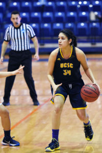 Trina Torres is one of five graduating seniors on the women's basketball team. Photo courtesy of Todd Kent.