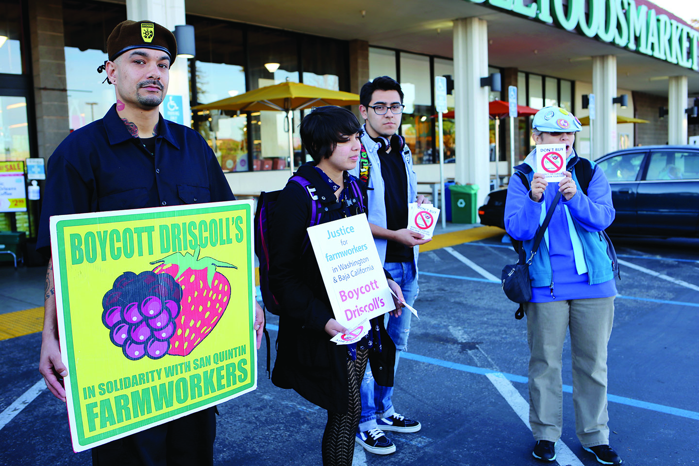 Protesters Join National Berry Boycott