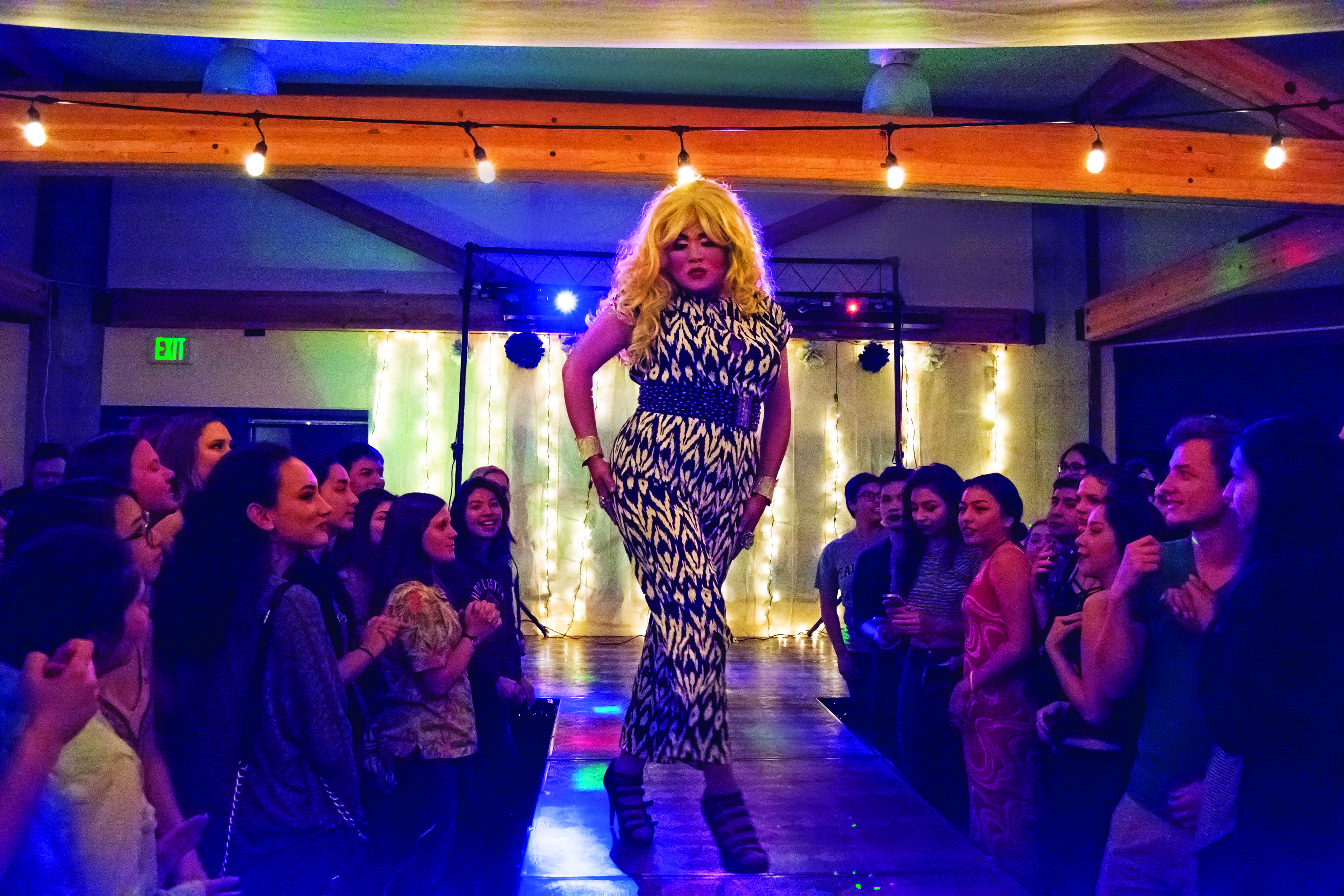 Sally Struts is one of three professional drag performers making up Girl Trouble. The group performed at the annual Drag Ball last Friday night. Photo by Megan Schnabel