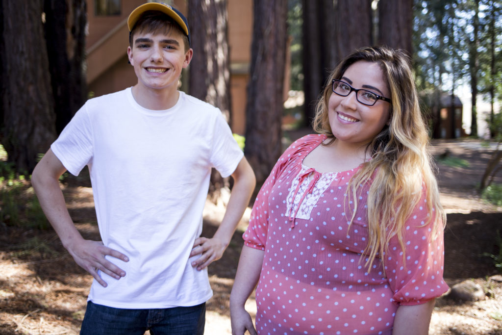 Jyssika Banuelos and Miles Mancinelli started the group Students for the Santa Cruz Metro, which is working to combat the cuts to the Santa Cruz Metro's funding. To offset the structural budget deficit, they are collaborating with the metro's workers' union, UCSC students and Santa Cruz County members to encourage the Santa Cruz Metro to seek alternative solutions, namely grants, rather than eliminate stops and routes. Photo by Calyse Tobias