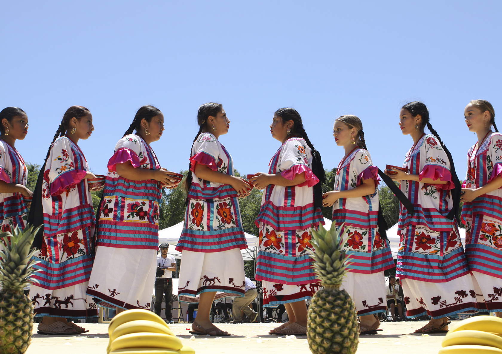 The student dancers, who range from ages 6 and up, practice throughout the school year for various community events such as Guelaguetza and Día de los Muertos. Photo by Ali Enright.