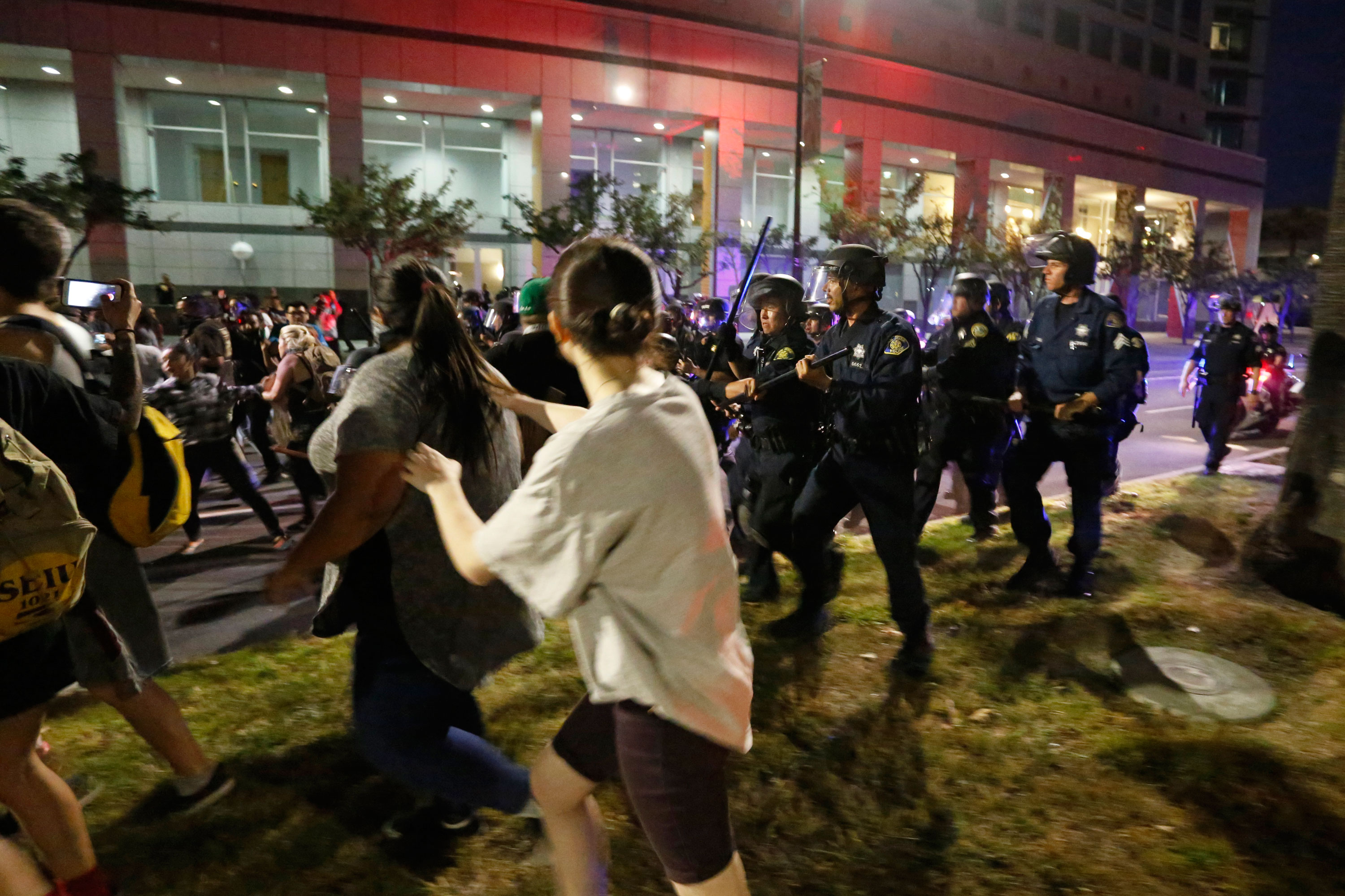 Trump Supporters and Protesters Clash in Streets at San Jose Rally