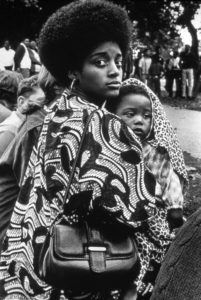 Ruth Marion-Baruch: Mother and child, Free Huey Rally, Oakland, 1968. Photo courtesy of UC Santa Cruz Special Collections