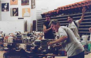 Students collected treasures from the first Kresge Great Junk Giveaway in 1993. This fall was the last run of the long-standing tradition. Photo courtesy of Robin McDuff.