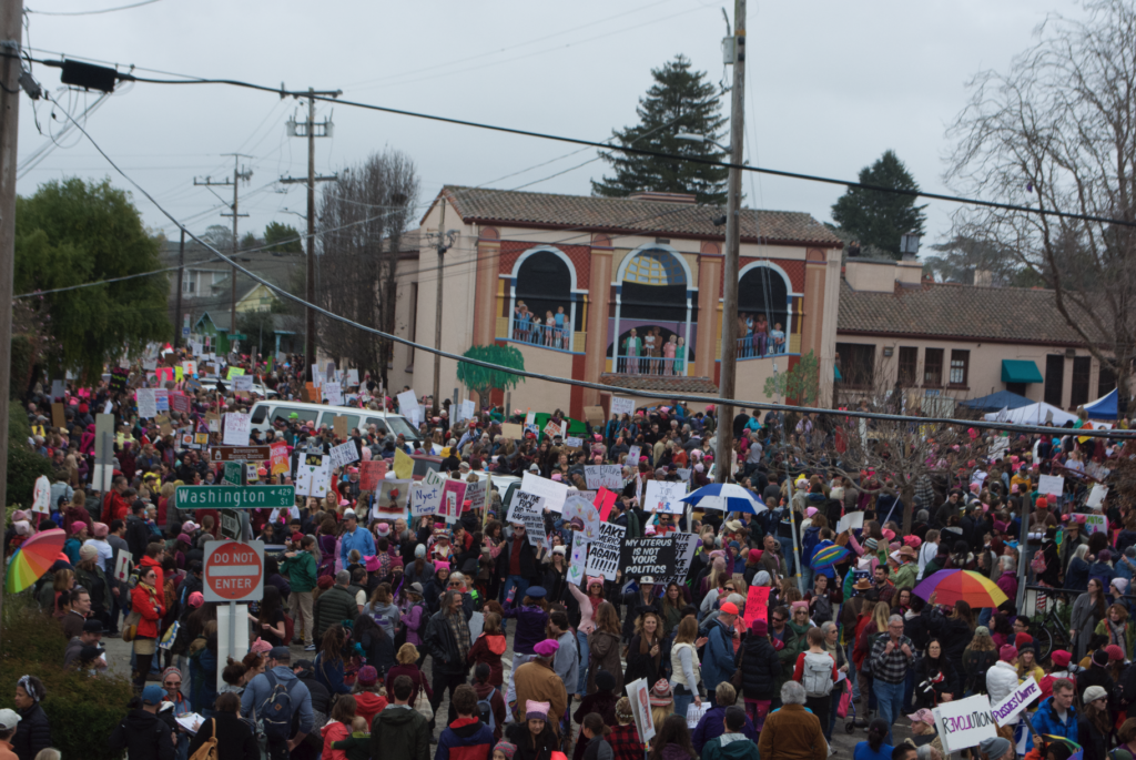 Last year, about 18,000 people gathered in Santa Cruz to march and advocate for women's rights. This was one part of the global Women's March on Washington, which took place Jan. 21. Approximately one year later activists will march again, continuing the fight.  Photo by Owen Thomas.