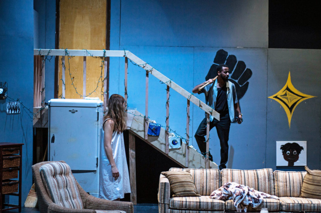 Detroit '67 explores the inter-racial relationship between an African-American man and a White woman in the midst of the 1967 Detroit riots. Photo by Alonso Hernandez