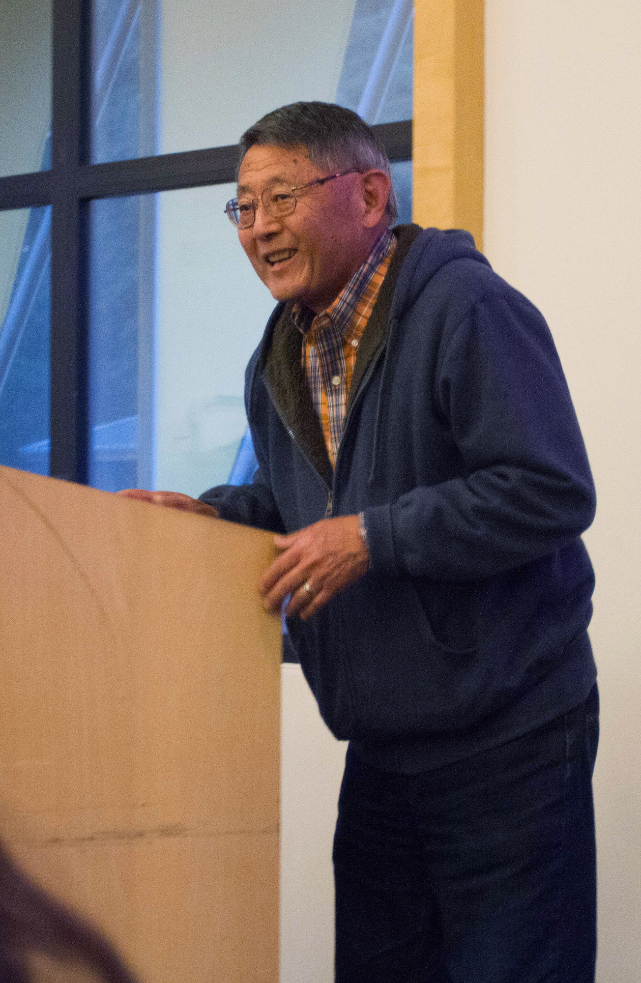 Victor Kimura, founding staff member at UCSC, spoke about his experience in the Japanese internment camps. Photo by Sean MacNaughton