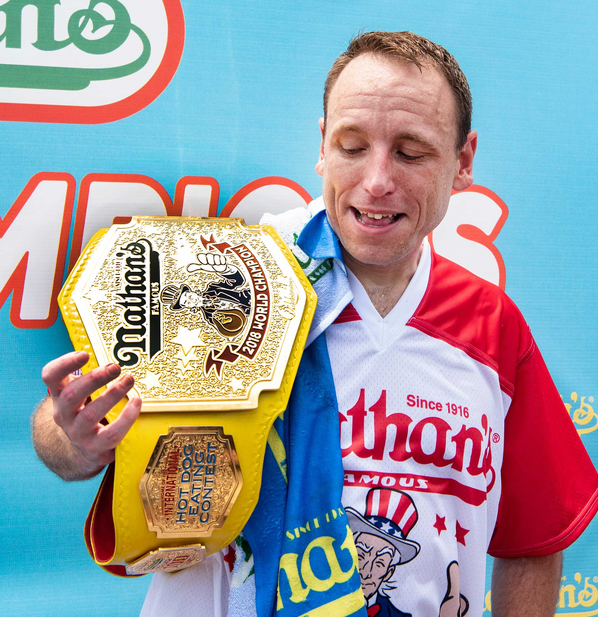 Getting Frank with World Hot Dog Eating Champion
